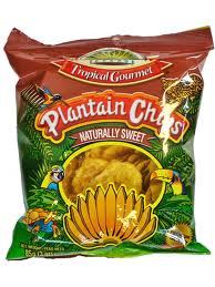 plantain chips sweet tropical gourmet 85g