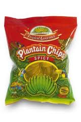 plantain chips spicy tropical gourmet 85g